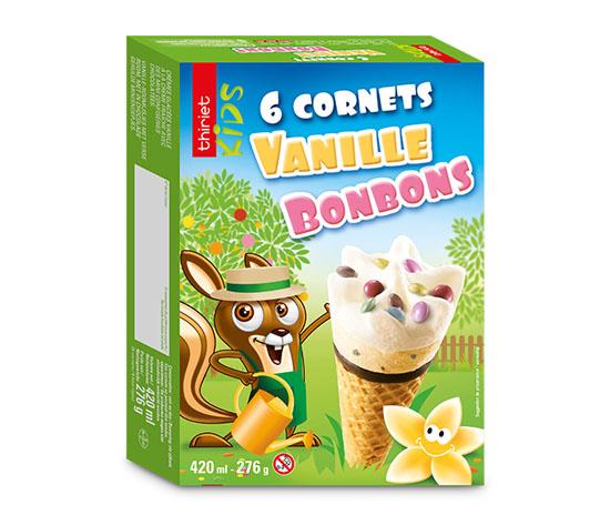6 Cornets Vanille/Bonbons
