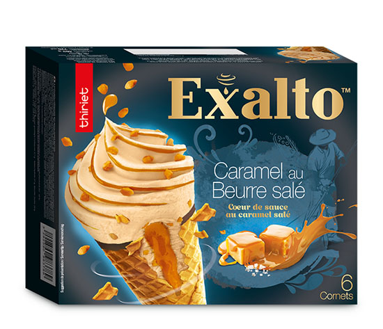 6 Cornets Exalto™ Caramel au beurre salé