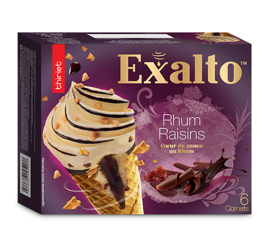 6 Cornets Exalto™ Rhum/Raisins