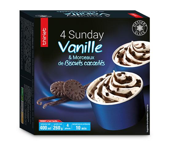 4 Sunday vanille et morceaux de biscuits cacaotés