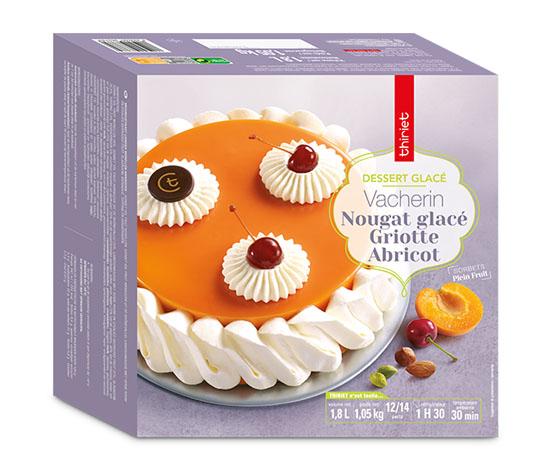 Vacherin nougat/griotte/abricot