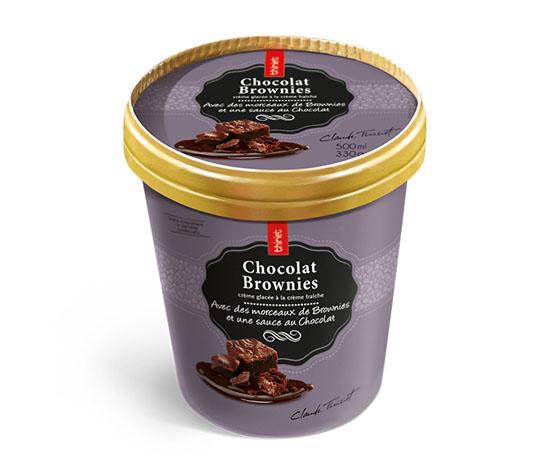 Pot Crème Glacée Chocolat brownies