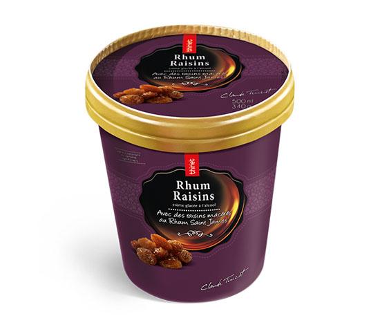 Crème glacée Rhum raisins