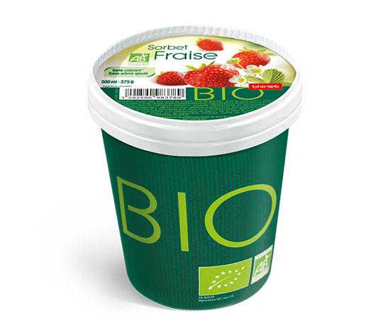 Pot Sorbet Fraise biologique