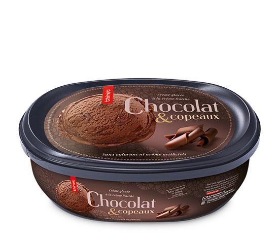 Crème glacée Chocolat et copeaux de chocolat
