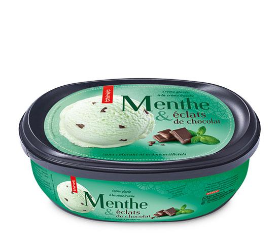 Crème glacée Menthe et éclats de chocolat