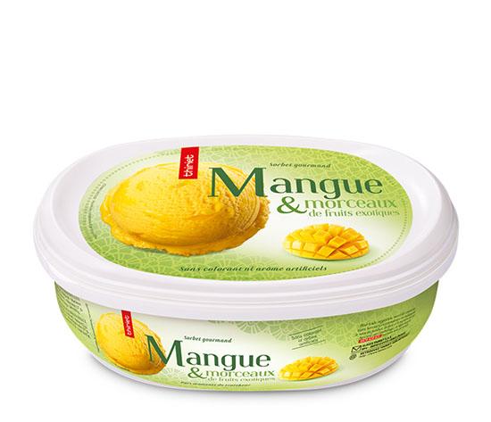 Sorbet Mangue et morceaux de fruits exotiques