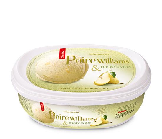 Sorbet Poire Williams et morceaux de poire