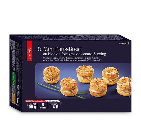 6 Mini Paris-Brest au bloc de foie gras de canard