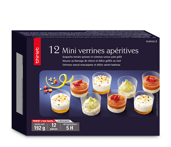 12 Mini verrines apéritives