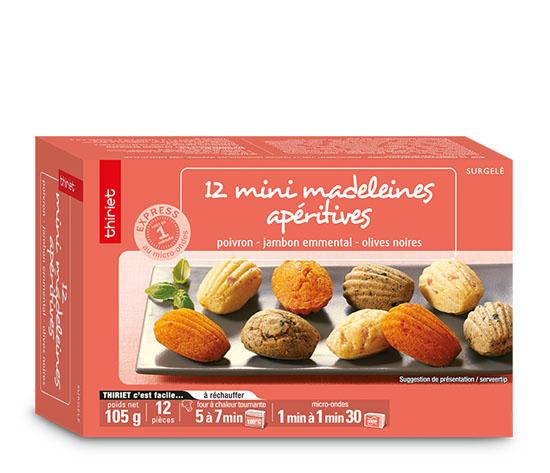 12 Mini madeleines apéritives
