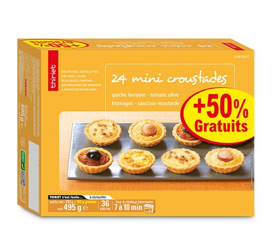 24 Mini croustades + 50% offert
