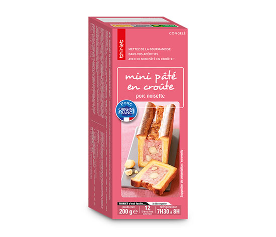 Lot de 2 mini pâtés en croute