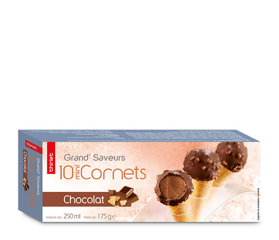 10 Mini Cornets Chocolat