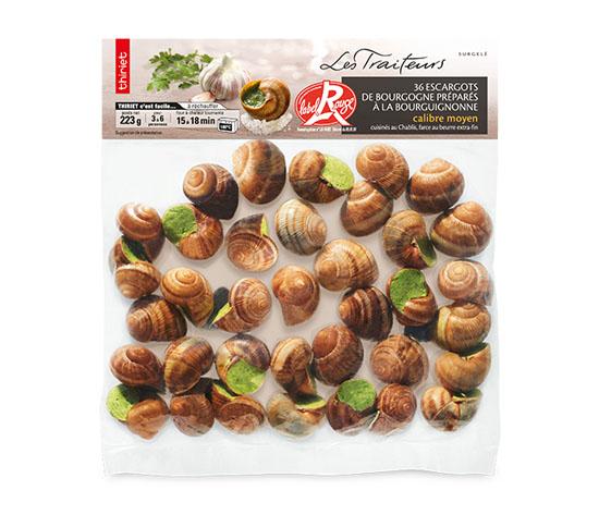 36 Escargots Bourgogne Label Rouge moyens