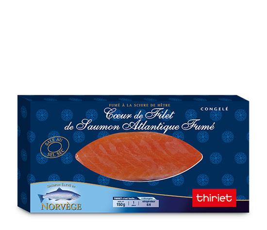 Coeur de filet de saumon Atlantique fumé
