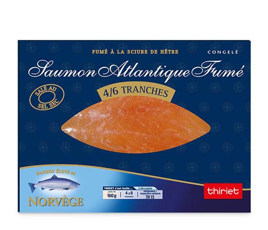 Saumon Atlantique fumé 160 g - Norvège