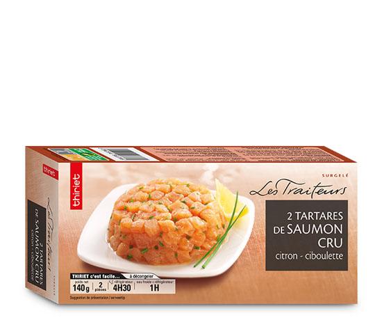 2 Tartares de saumon cru citron/ciboulette