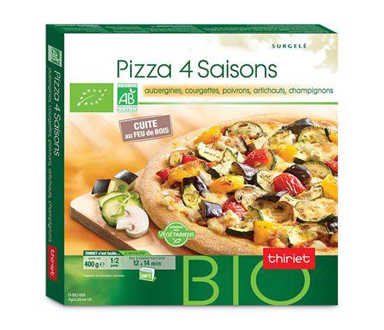 Pizza 4 saisons biologique