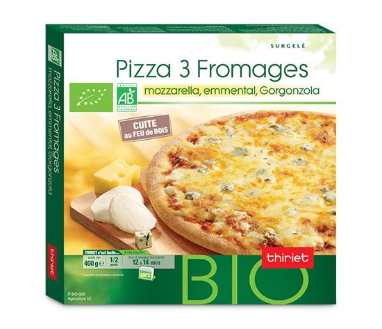 Pizza 3 fromages biologique