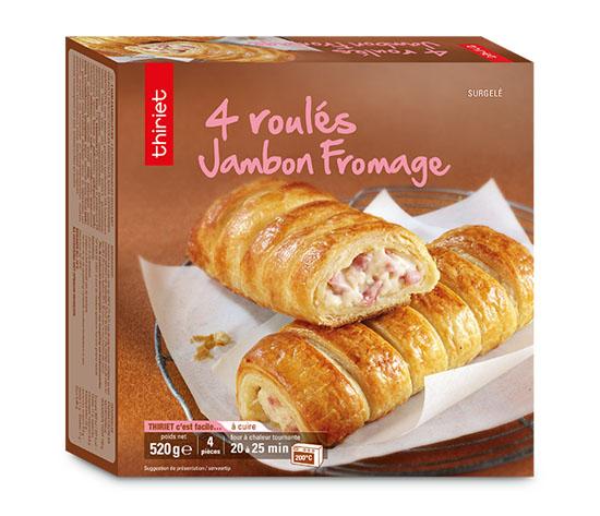 4 Roulés jambon/fromage