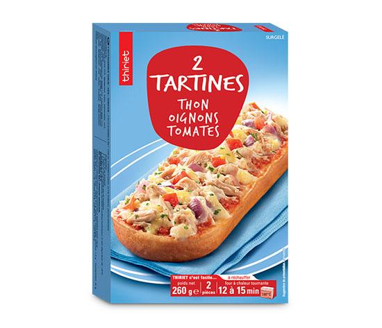 2 Tartines thon,oignons,tomates