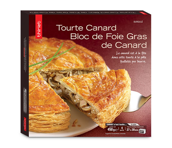 Tourte au canard et bloc de foie gras de canard