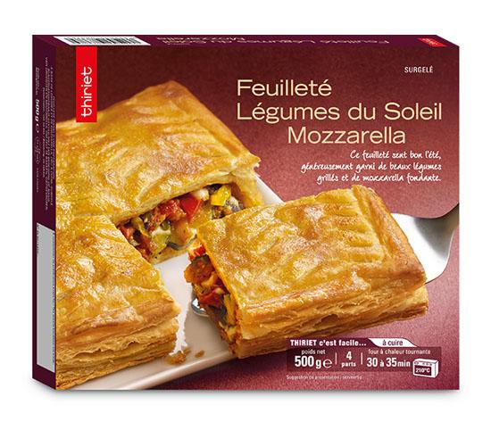 2 Feuilletés légumes du soleil/mozzarella