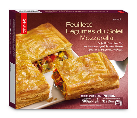 Les 2 Feuilletés légumes du soleil/mozzarella