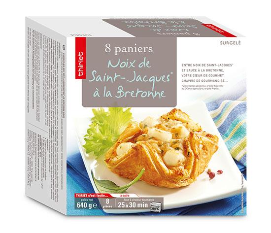 16 Paniers aux noix de St-Jacques*, à la bretonne