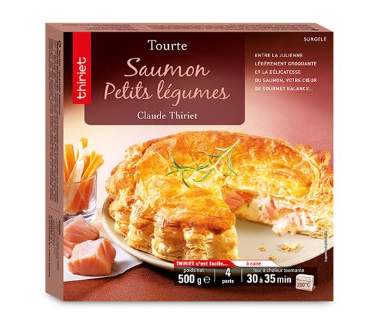 Tourte saumon/petits légumes : la 2ème à -60%