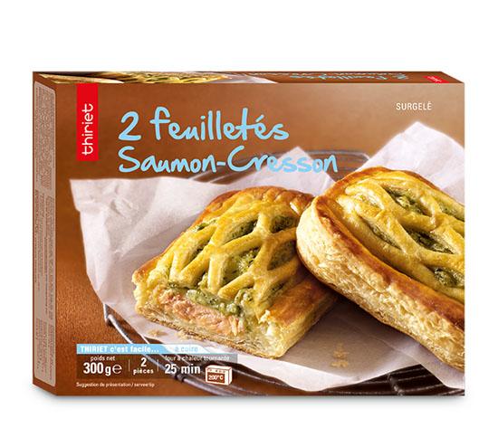 2 Feuilletés saumon/cresson