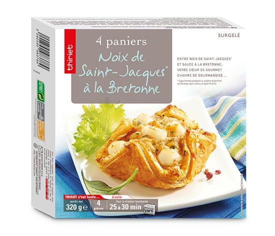 4 Paniers aux noix de St-Jacques*, à la bretonne