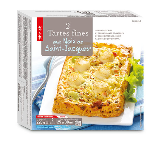 2 Tartes fines St-Jacques