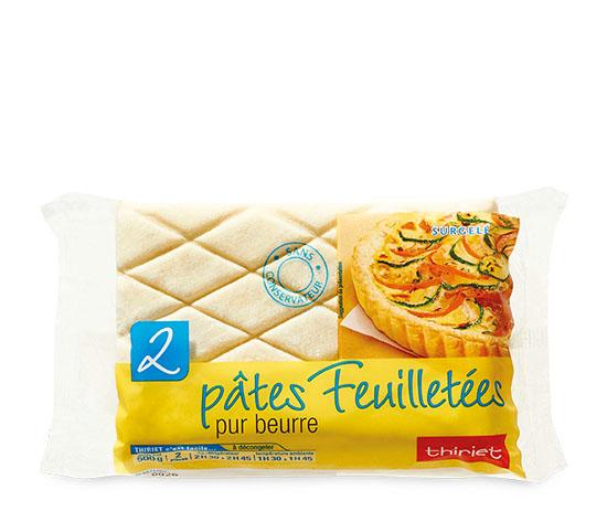2 Pâtes feuilletées pur beurre