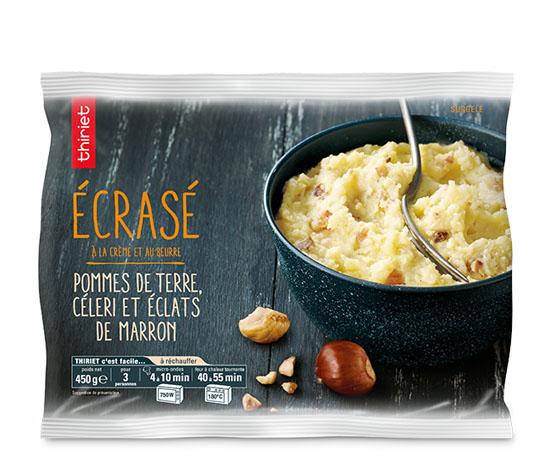 Ecrasé de pommes de terre, céleri, éclats marron