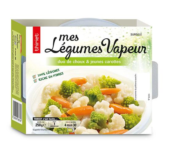 Mes légumes vapeur duo de choux et carottes
