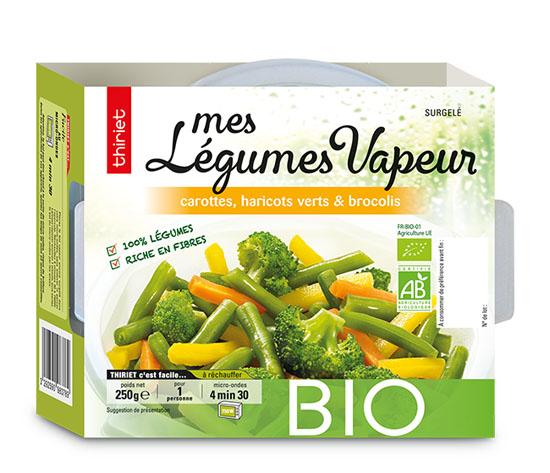 Mes légumes vapeur carottes, haricots,brocolis bio