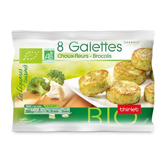 8 Galettes choux-fleurs/brocolis biologiques