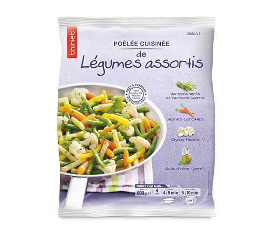 Poêlée cuisinée de légumes assortis : le 2ème sachet à -70%