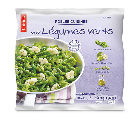 1 poêlée de légumes au choix : la 2ème à -60%
