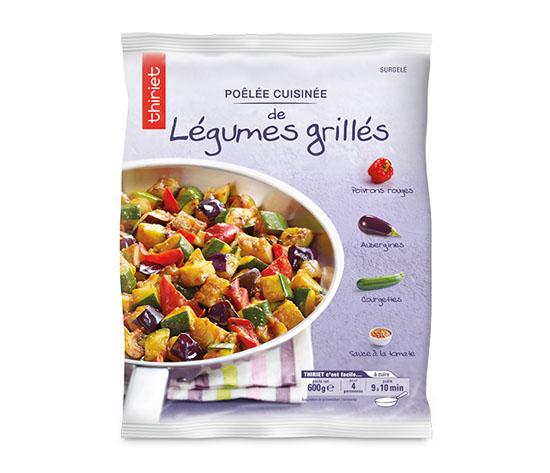 Lot de 2 x 1 Poêlée cuisinée de légumes grillés