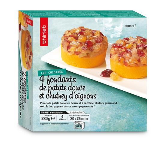 4 Fondants de patate douce et chutney d'oignons