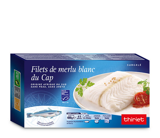 Lot de 2 Filets de merlu blanc du Cap