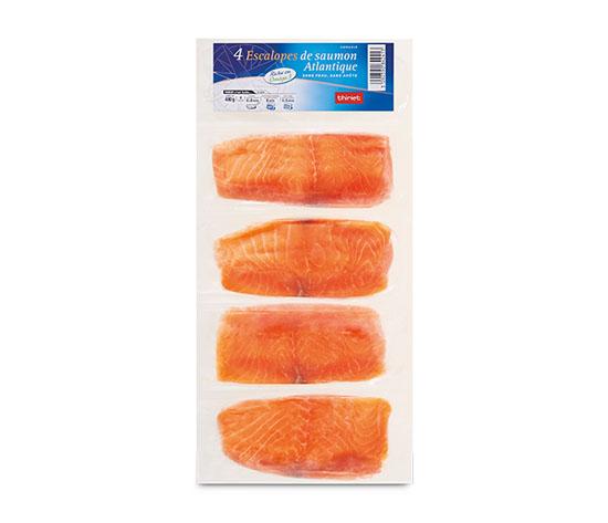 4 Escalopes de saumon Atlantique