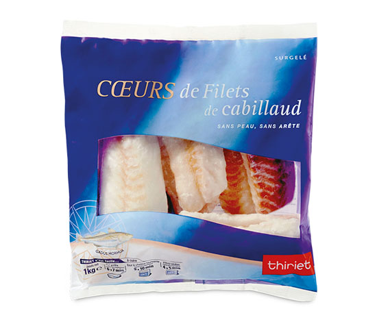 Coeurs de filets de cabillaud