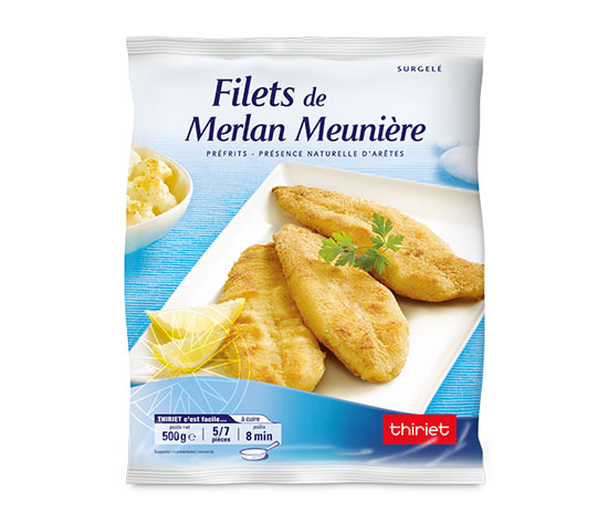 Filets de merlan meunière