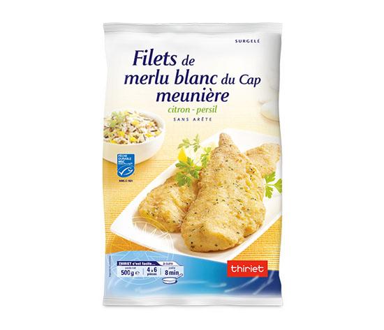 Filets de merlu blanc du Cap meunière citron