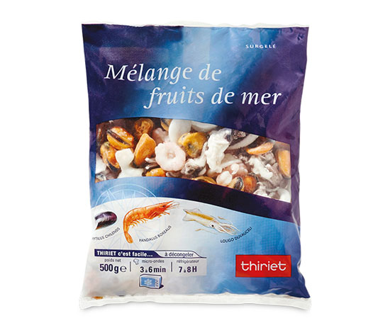 Mélange de fruits de mer