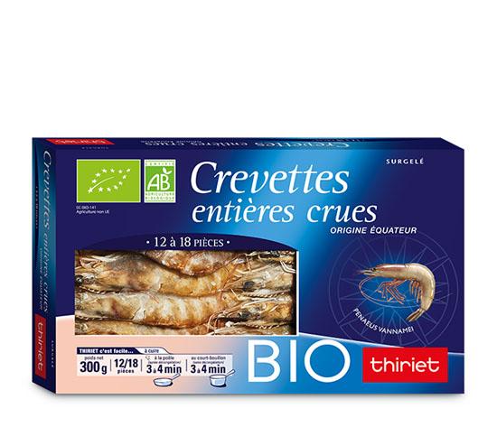 Crevette bio crues : la 2ème à -68%